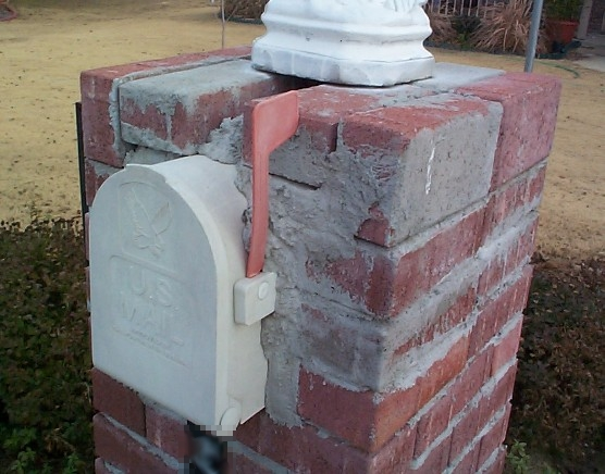 how not to build a brick mailbox